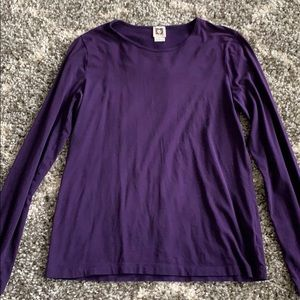 Anne Klein deep purple long sleeve tee Sz L